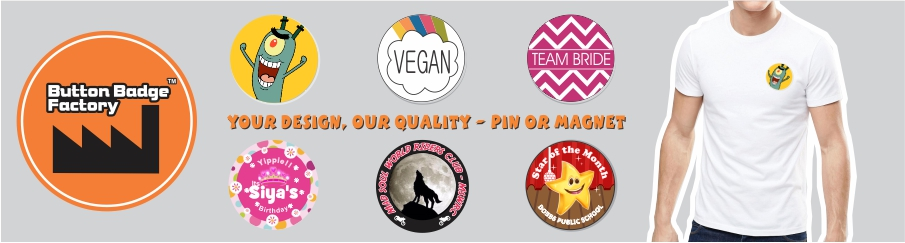 Button Badge Factory - buy custom button badge online